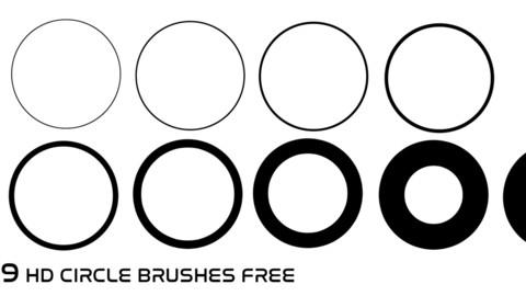 9 HD Circle Brushes Free