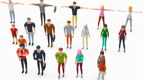 People lowpoly