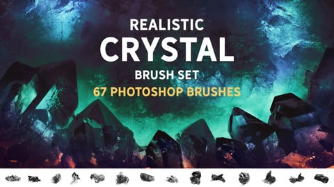 Realistic Crystal brush set