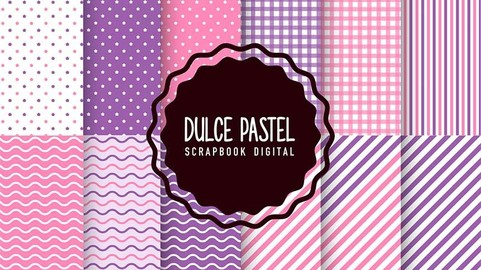Kit de 12 Papeles Digitales Sweet Paste