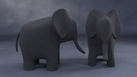 DAZ Studio freebie: deco elephant
