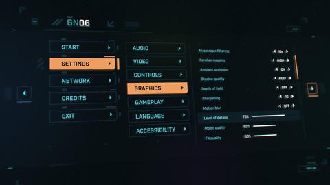 FUI / UI - Sci-fi Game Menu Template
