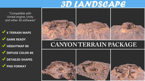 Terrain Maps - 06 Canyon Terrain Package Texture
