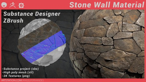 Stone Wall - Substance Designer ZBrush