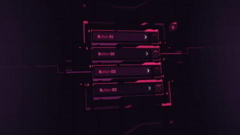 FUI / UI - Sci-fi Cyberpunk style Game Menu Template