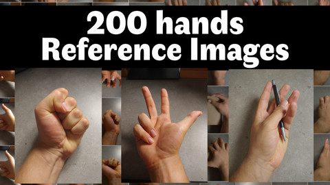 200 Hands Reference Images