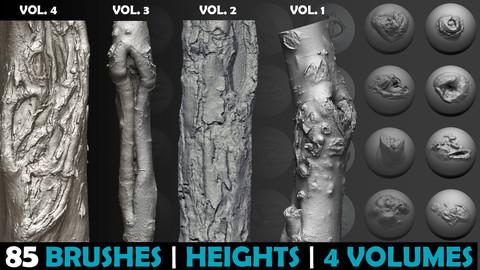 Zbrush - Trunk Detail Brushes set | 4 Volume