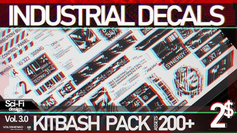 SCI-FI DECALS KITBASH PACK 200+
