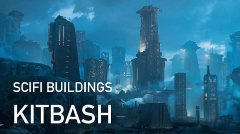 Scifi Buildings Kitbash