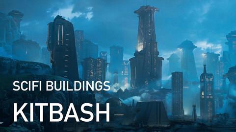 Scifi Buildings Kitbash