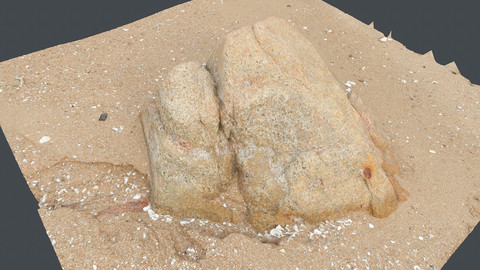 Photoscan_Beach Rock_0030_only HighPoly Mesh (16K Texture)
