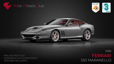 1996 Ferrari 550 Maranello - 3D Model