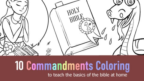 10 Commandments Coloring for Kids