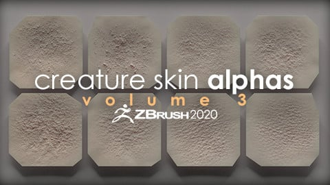 Creature Skin Alphas vol. 3 + Render Scene