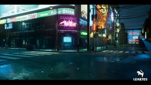 Cyberpunk City / Recife Environment