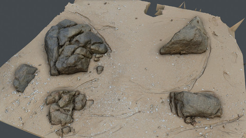 Photoscan_Beach Rock_0032_only HighPoly Mesh (16K Texture)