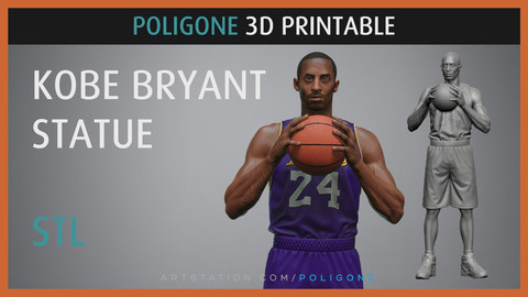 Kobe Bryant Statue - 3D Printable