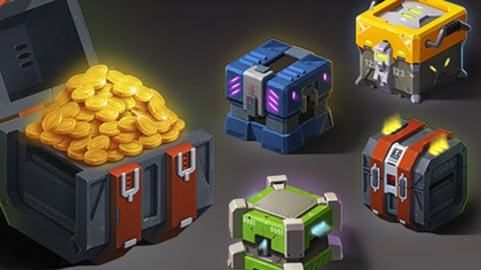 2D Chests Assets - Sci-fi