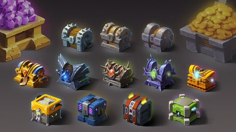 2D Chests Assets - Mega Pack
