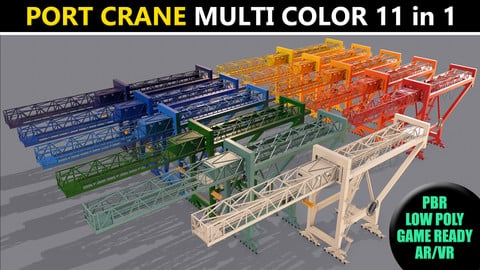 PBR Port Container Crane - Multi color Pack