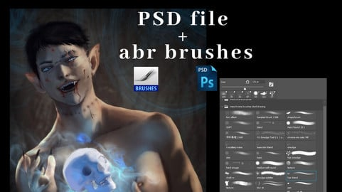 Psd file and brushes