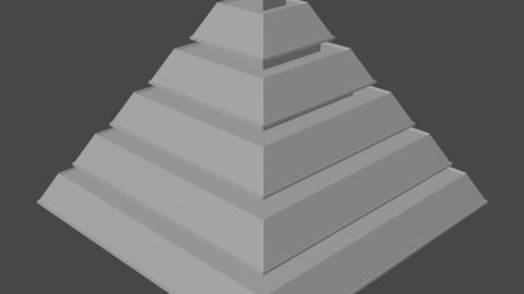 Pyramid with Squared Spike