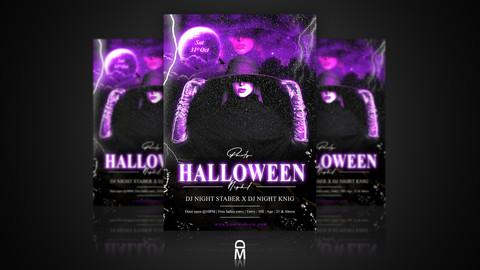 Halloween Flyer / Poster - Digital & Print Template