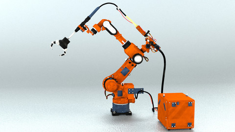 Industrial Robot arm Game asset