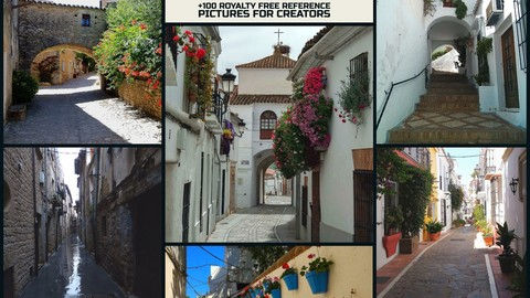 Spain's Towns:+100 Royalty Free Reference Pictures