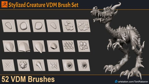 Stylized Creature VDM Brush Set