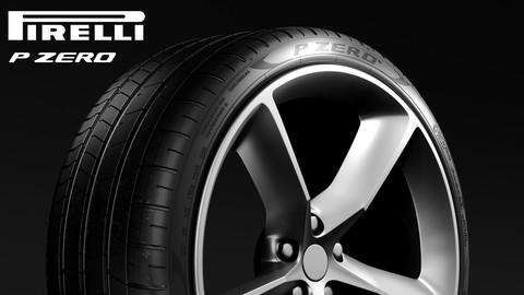 Pirelli P Zero tire 3d model