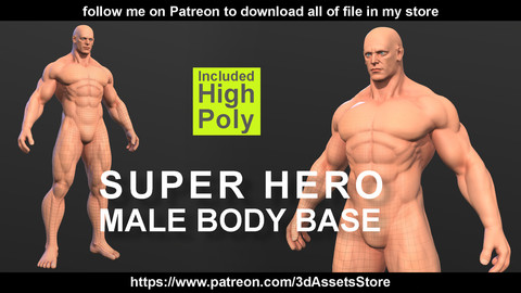 Character - Super Hero Male Body Base