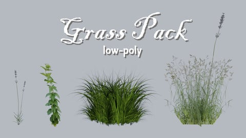 Low-Poly Grass Pack