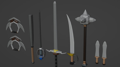 Low Poly Sword & Weapon Pack