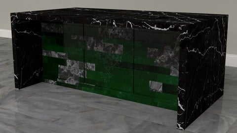Black Marble Counter
