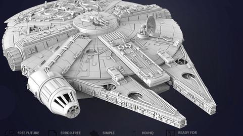 Millennium Falcon 3D Printing Model | Standard Assembly Kit
