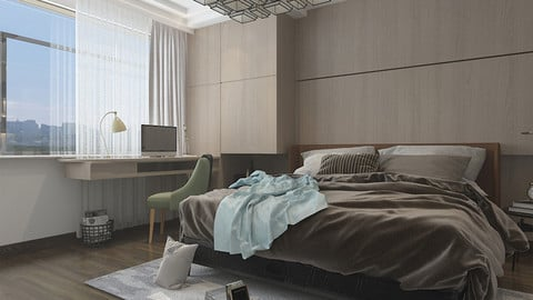 New Chinese modern style bedroom