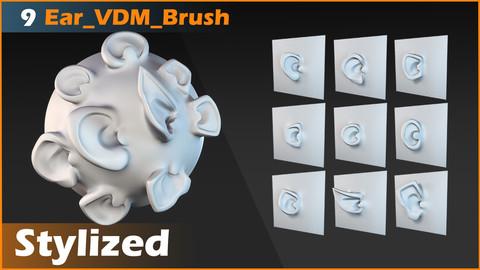 Ear 9 Stylized VDM Brush