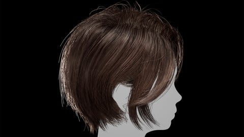 Hair for games Unreal Engine 4 project 1