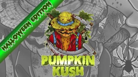 PumpkinKUSH HALLOWEEN EDITION LABELS set.