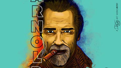Arnold vector digital portrait