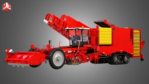 Varitron Potato Harvester 3D model