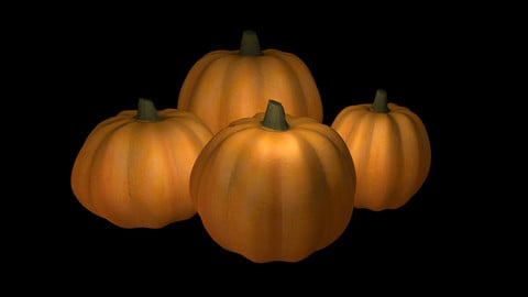 Photorealistic low poly pumpkin for Halloween decor