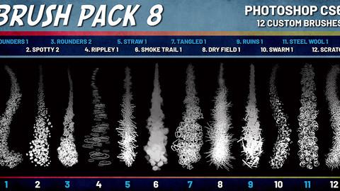 SHIDOOK BRUSH PACK 8 (Photoshop CS6+)