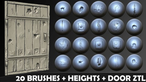 Zbrush - Environmental Wood damage Brushes