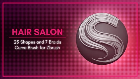[IMM Brush] Stylized Hair Flakes and Braids Brush for Zbrush 2021