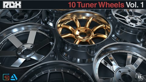 10 Wheels / Rims Models - Tuner 3 Piece Vol 01