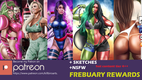FREBUARY 2019 BUNDLE   (HQ,NSFW , PSD,SKETCHS)