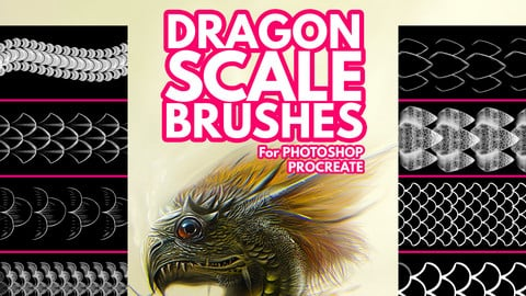 Dragon Scale Brushes for Photoshop