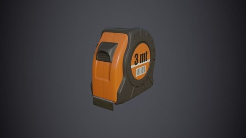 Tape measure low poly